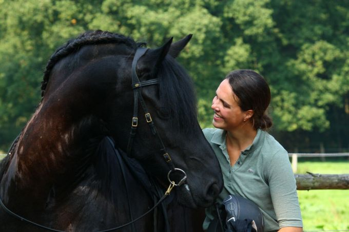 Schöner Moment mit dem Pferd