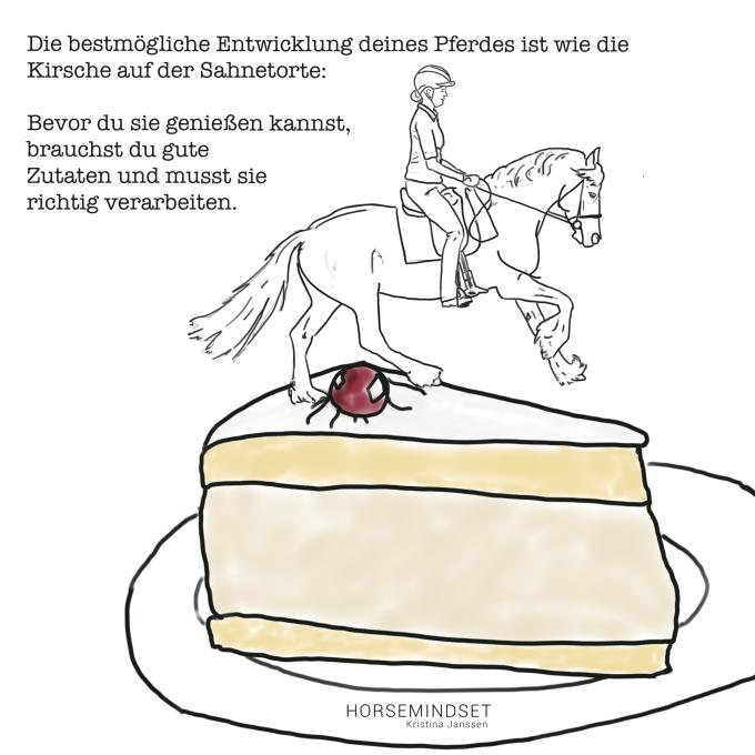 Die bestmögliche Entwicklung deines Pferdes ist wie die Kirsche auf der Sahnetorte.