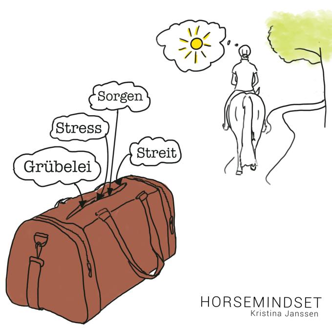 Eine Tasche, um sich beim Reiten auf die schönen Dinge konzentrieren zu können.